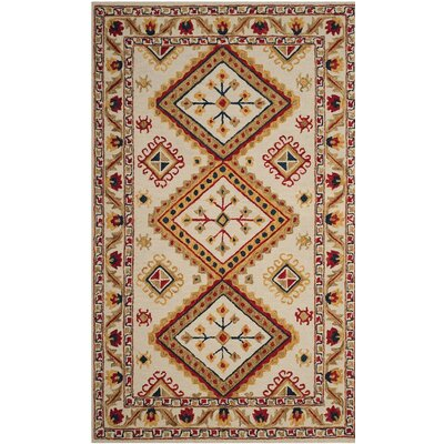 Aldwich Hand-Tufted Multi-Color Area Rug Rug Size: 4 x 6