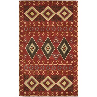 Boyd Hand-Tufted Multi-Color Area Rug Rug Size: 5 x 8