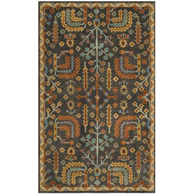 Boyd Hand-Tufted Multi-Color Area Rug Rug Size: Round 6