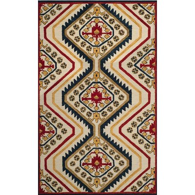 Aldwich Hand-Tufted Multi-Color Area Rug Rug Size: 3 x 5