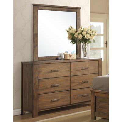 Cayuse 6 Drawer Dresser with Mirror