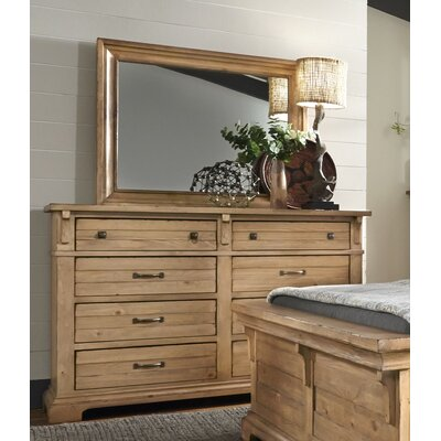 Brownwood 8 Drawer Double Dresser with Mirror