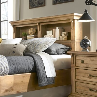 Rhian Bookcase Headboard Size: King