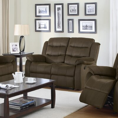 Rancho Cucamonga Motion Reclining Loveseat Upholstery: Chocolate