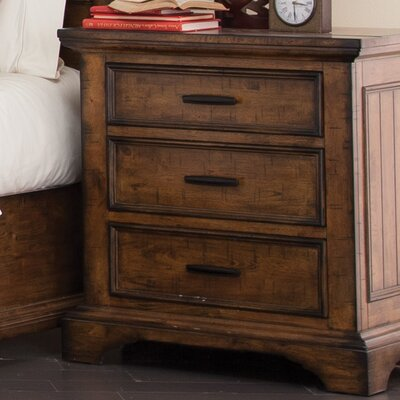 Pinole 3 Drawer Nightstand