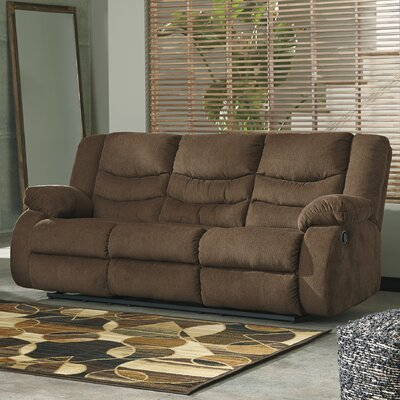 Ridgemont Reclining Sofa Upholstery: Chocolate