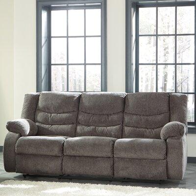 Ridgemont Reclining Sofa Upholstery: Gray