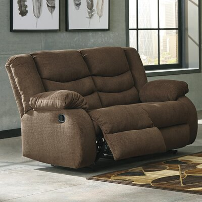 Ridgemont Reclining Loveseat Upholstery: Chocolate