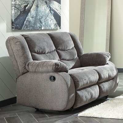 Ridgemont Reclining Loveseat Upholstery: Gray