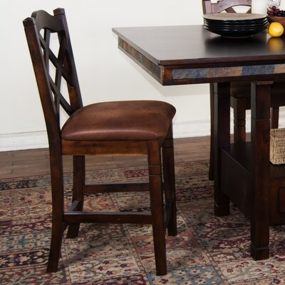 Fresno 24 Bar Stool Finish: Dark Chocolate
