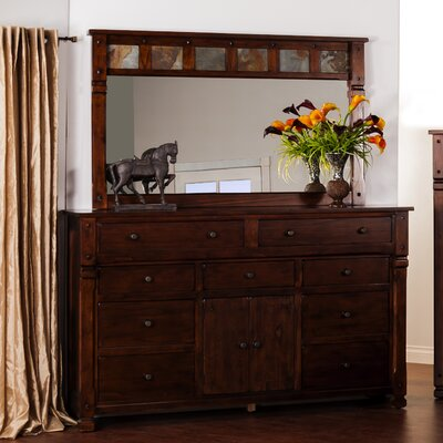 Fresno 9 Drawer Dresser with Mirror