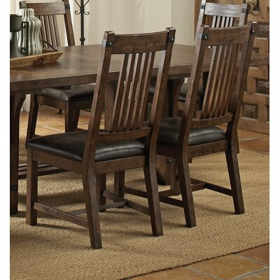 Bucksport Genuine Leather Upholstered Dining Chair