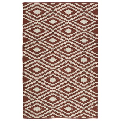 Greenfield Brick/Cream Indoor/Outdoor Area Rug Rug Size: Rectangle 5 x 76