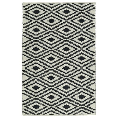 Greenfield White/Black Indoor/Outdoor Area Rug Rug Size: 3 x 5