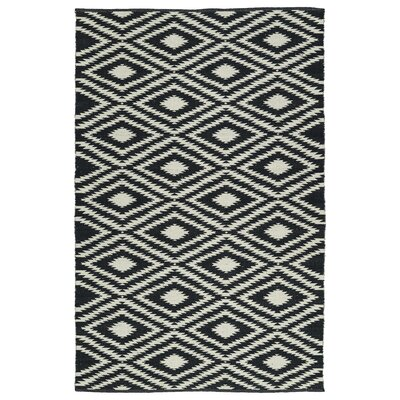 Greenfield Black & White Indoor/Outdoor Area Rug Rug Size: Runner 2 x 6