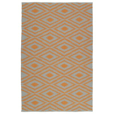 Greenfield Gray/Orange Indoor/Outdoor Area Rug Rug Size: Runner 2 x 6