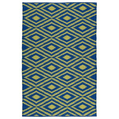 Greenfield Navy/Yellow Indoor/Outdoor Area Rug Rug Size: 3 x 5