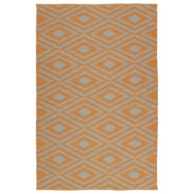 Greenfield Orange/Gray Indoor/Outdoor Area Rug Rug Size: Runner 2 x 6