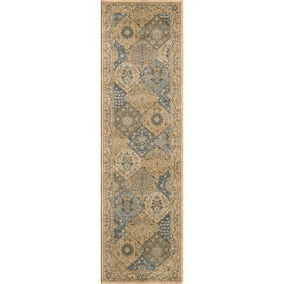 Belmont Blue/Tan Area Rug Rug Size: Rectangle 93 x 126