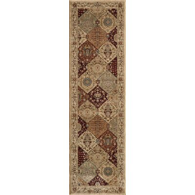 Belmont Burgundy Area Rug Rug Size: Rectangle 53 x 76