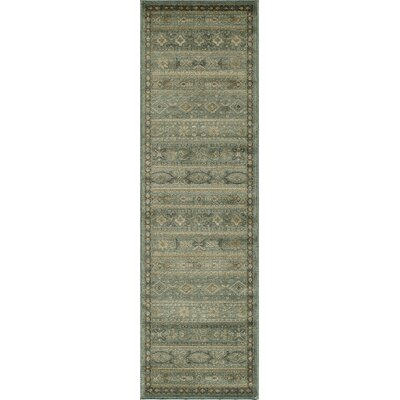 Belmont Light Blue Area Rug Rug Size: Runner 23 x 76