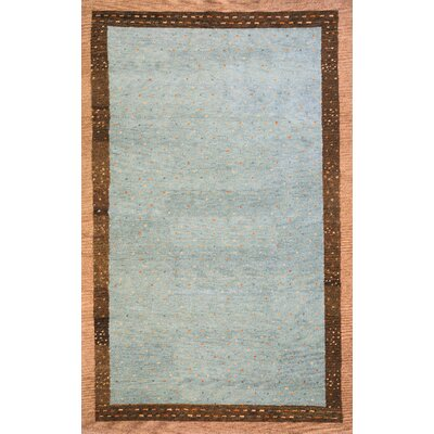 Havsa Desert Gabbeh Hand-Knotted Gray Area Rug Rug Size: Rectangle 76 x 96