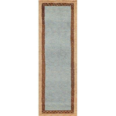 Havsa Desert Gabbeh Hand-Knotted Gray Area Rug Rug Size: Runner 26 x 8