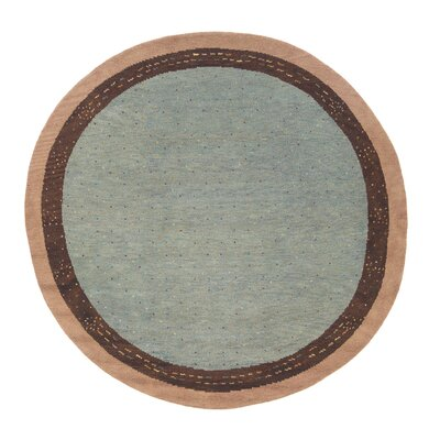 Desert Gabbeh Hand-Knotted Gray Area Rug Rug Size: Round 8