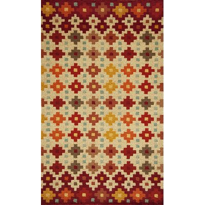 Veranda Beige/Brown Indoor/Outdoor Area Rug Rug Size: 5 x 8