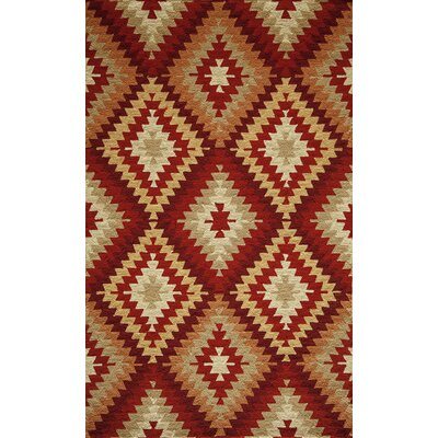 Veranda Hooked Area Rug Rug Size: Rectangle 39 x 59