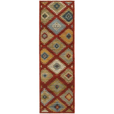 Honaz Red Area Rug Rug Size: Runner 23 x 76