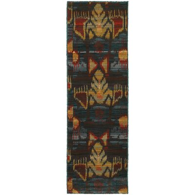 Honaz Tribal Grey/Blue Area Rug Rug Size: Runner 23 x 76