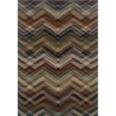 Horasan Gray/Brown Area Rug Rug Size: 710 x 1010