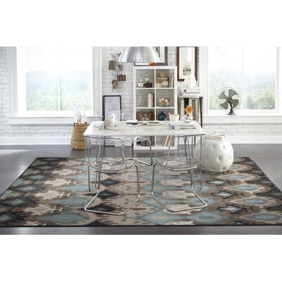 Horasan Blue/Stone Area Rug Rug Size: Rectangle 53 x 76