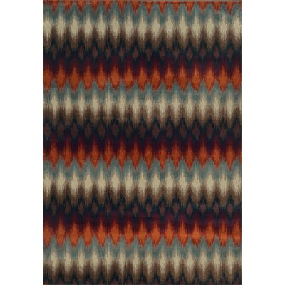 Horasan Black/Stone Area Rug Rug Size: Rectangle 710 x 1010