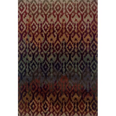 Horasan Red Area Rug Rug Size: Rectangle 53 x 76