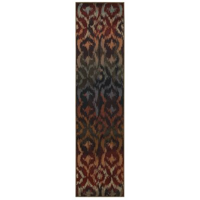 Horasan Red Area Rug Rug Size: Runner 110 x 76
