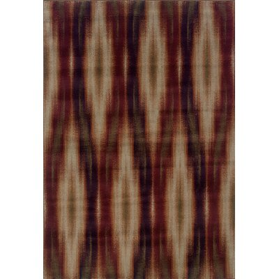 Horasan Gray/Red Area Rug Rug Size: 710 x 1010
