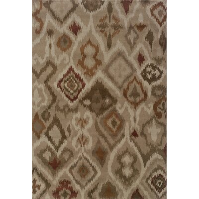 Horasan Grey/Orange Area Rug Rug Size: 67 x 96