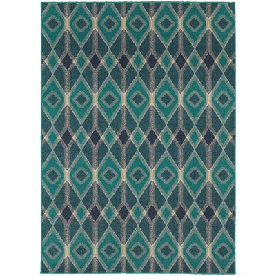 Elbert Blue/Teal Area Rug Rug Size: Rectangle 53 x 76