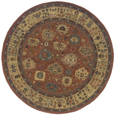 Glenpool Hand-made Area Rug Rug Size: Round 76