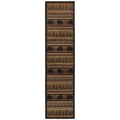 Johnson Village Black/Beige Area Rug Rug Size: Runner 11 x 76