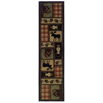 Johnson Village Brown/Red Area Rug Rug Size: Runner 110 x 76