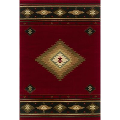 Johnson Village Red/Green Area Rug Rug Size: Rectangle 53 x 76