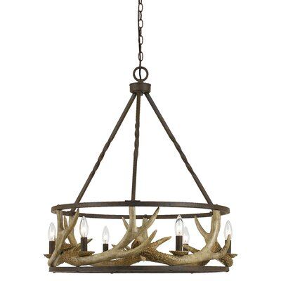 Los Angeles Antler 8-Light Candle-Style Chandelier
