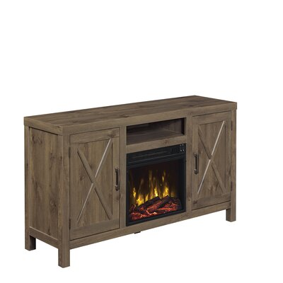 Dodson 53 TV Stand with Optional Fireplace Fireplace Included: Yes