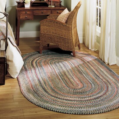 Roxborough Park Straw Beige Area Rug Rug Size: Oval 7 x 9