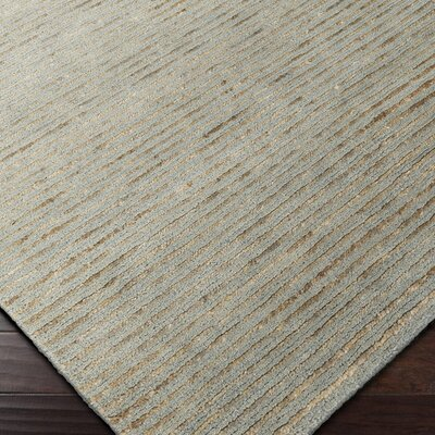 Cumberland Plateau Hand-Woven Denim/Khaki Area Rug Rug size: Rectangle 2 x 3