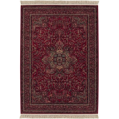 Emory All Over Center Cranberry Red Area Rug Rug Size: Rectangle 53 x 79