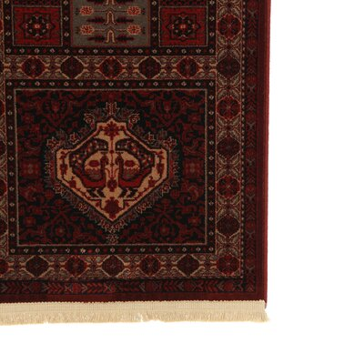 Emory Burgundy Area Rug Rug Size: Rectangle 46 x 69